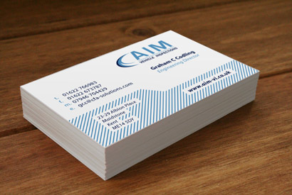 AIM Vehicle Inspections business cards.