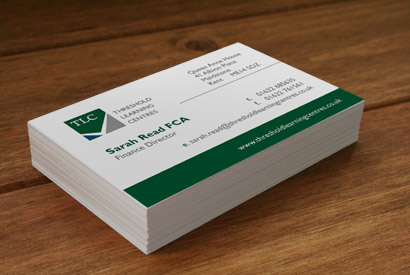 Threshold Learning Centres business cards.