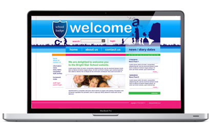 Junior School website template.